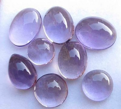 45.60 CTS NATURAL Amethyst 12X15 MM Oval Cabochon Loose GEMSTONE