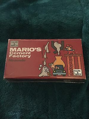 NINTENDO GAME&WATCH Mario's Cement Factory COMPLETE BOXED NEW UNUSED!
