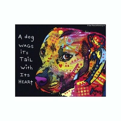 Pit Bull A Dog Wags Its Tail With Its Dean Russo Vinyl Dog Car Decal Sticker
