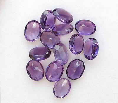 13.70 CTS NATURAL Amethyst 6X8 MM Oval Cut Loose GEMSTONE