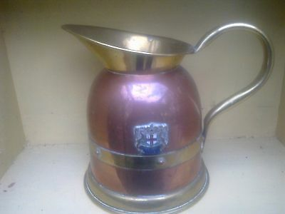 Vintage Crested Jug In Brass And Copper