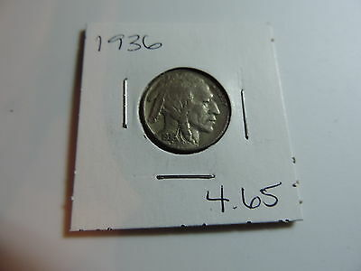 1936 US American Nickel coin A500