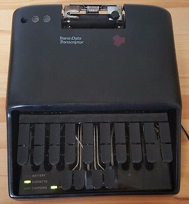 Baron Data Transcriptor Stenography Machine With Case/Stand/Charger