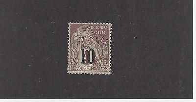 """Senegal #10   Mh  """"french Colonies (Commerce)   With Black Overprint"""""""