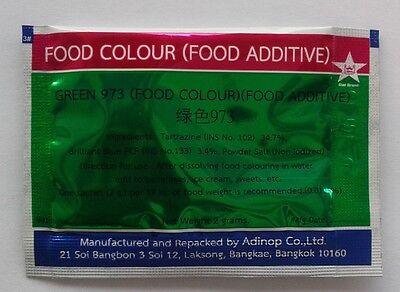 2 Pcs Green Color 973 Food Coloring Powder Dust Tint Safe for Baking Product