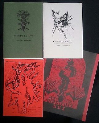 CLAVICULA NOX 1 to 4 - Ixaxaar booklets extremely rare occult LHP