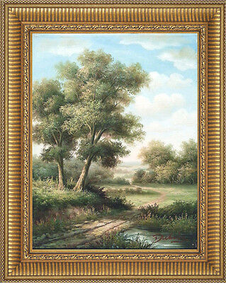 Art Hand Painted Landscape Original Oil Painting on Canvas Stretched 12x16