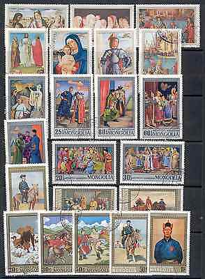Mongolia - Lot of used Stamps