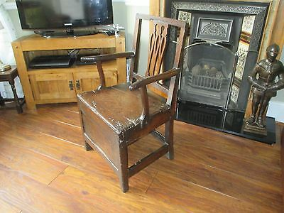 18th Century Carver Chair with Storage Lid
