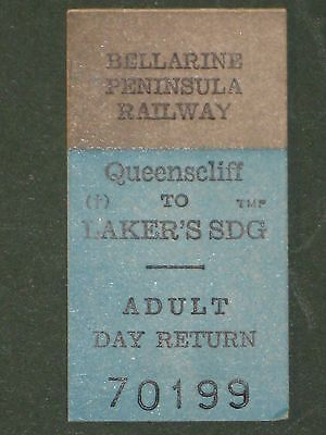 Railwayana - Bellarine Peninsula Railway Ticket - Victoria, Australia