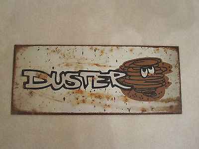 Plymouth DUSTER Tin Metal Sign MOPAR AMERICAN MUSCLE CAR