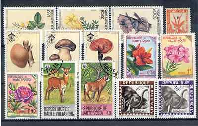 Mixed Lot of Upper Volta Stamps - Flora & Fauna