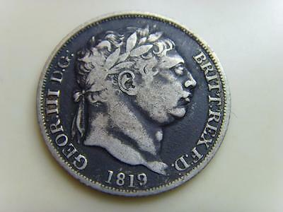 1819 Silver Sixpence King George Iii British Coin Great Britain Six Pence