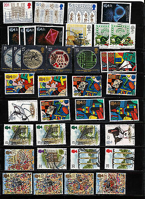 GB 1989 used commemoratives as scan. (ref 1989b)