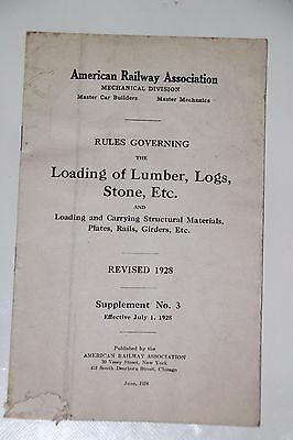 American Railway Association Rules Governing The Loading Of Lumber,logs,stone,