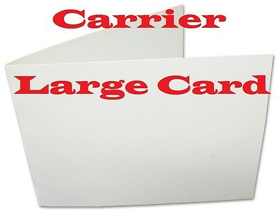 5 Carriers Sleeves Sheets For Laminating Pouches,   CARD SIZE  4-1/4 x 3-1/8