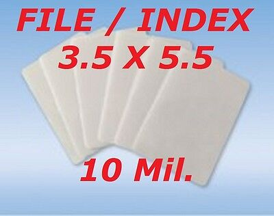 3 x 5 Quality Laminating Pouches Sheets Index Card 50-Pk 3-1/2 x 5-1/2 10 Mil
