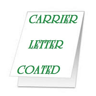 2 pc Carrier Sleeves For Laminating Pouches LETTER Size 9-1/4 x 11-5/8 Coated
