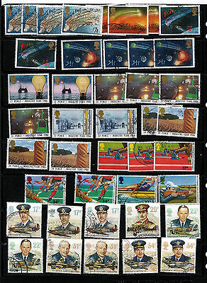GB 1986 used commemoratives as scan. (ref 1986b)