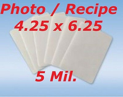 4 x 6 Laminating Pouches Sheets Photo 4.25 x 6.25 5 Mil 100- PACK