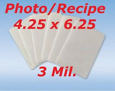 4 x 6 Laminating Pouches Sheets Photo 4.25 x 6.25  200- Pack 3 Mil