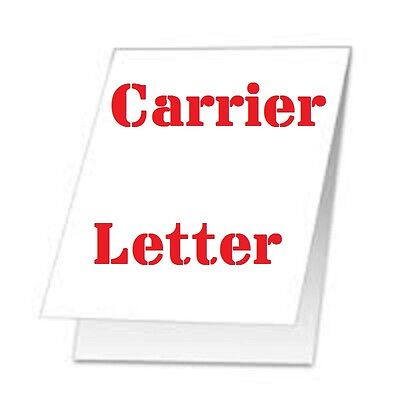 2 pack Carrier Sleeve's For Laminating Pouches  LETTER SIZE COATED