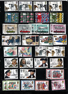 GB 1982 used commemoratives as scan. (ref 1982b)
