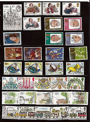 GB 1980 used commemoratives as scan. (ref 1980b)