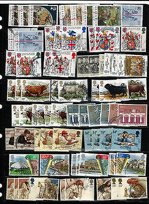 GB 1984 used commemoratives as scan. (ref 1984b)