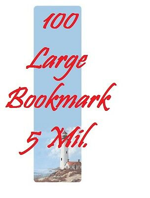 5 MIL Bookmark Large Laminating Pouches Sheets, 2-3/8 x 8-1/2 100 PK
