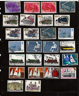 GB 1975 used commemoratives as scan. (ref 1975b)