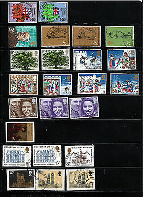 GB 1973 used commemoratives as scan. (ref 1973b)