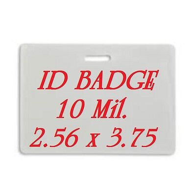 ID BADGE CARD Laminating Pouches Sheets 2.56 X 3.75 (100 EACH) With Slot 10 Mil