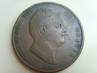 1831 Penny King William Iv British Coin Great Britain One Pence William Iiii