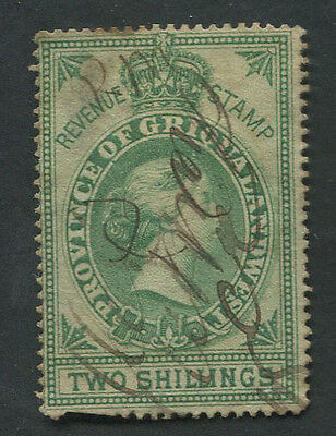 South Africa GRIQUALAND WEST 1879 revenue 2sh used.  Barefoot #66