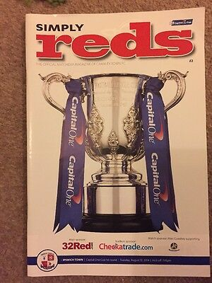 CRAWLEY TOWN v IPSWICH TOWN 12 August 2014 Capital One Cup First Round Programme
