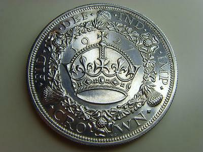 1927 Silver Wreath Crown King George V British Coin Great Britain