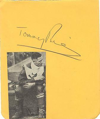 TOMMY PRICE 1930/50's   WEMBLEY etc HAND SIGNED ALBUM PAGE - 1949 WORLD CHAMPION