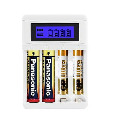 Sale 4 Slots LCD Display Intelligent Battery Charger For AA / AAA Batteries