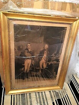 """""""The Army and Navy"""" Wellington and Nelson 19th Century Framed Print"""