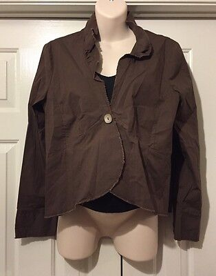 NWT Old Navy Maternity Brown Open Front Cotton Jacket Size XLarge