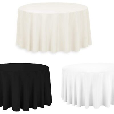 Round Table Cloth Cover Cotton Wedding Birthday Party Dining Decoration 132 Inch