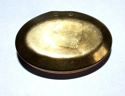 Antique Brass Welsh Miners Snuff / Tobacco Tin / Box.