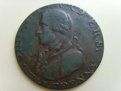18th CENTURY JOHN HOWARD RULE BRIT HALFPENNY TOKEN BRITISH COIN GREAT BRITAIN