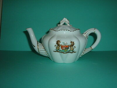 Rare Shelley Dainty  Bachelor Teapot Crested City Of Bristol - Pristine Cond.