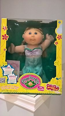 Cabbage Patch Kids Mermaid New in Box Blonde Blue eyes CPK Mermaid Outfit Smile