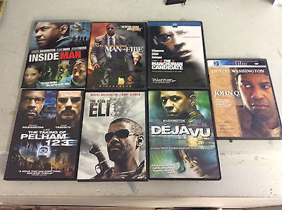 Denzel Washington DVD Movie Lot Of 7! See Pics For Titles! Tested!