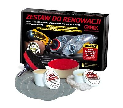 CAR Headlight Hedlamp Restoration Kit Polishing System For Plastic Lense and WAX