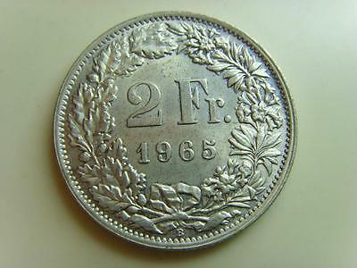 1965 B Switzerland 2 Francs Helvetia Swiss Coin 2 Fr Two