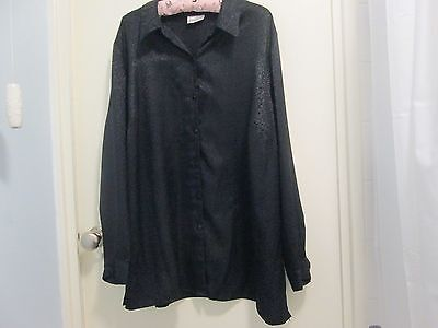Evans  Black Shirt/top Size 24...nwt...